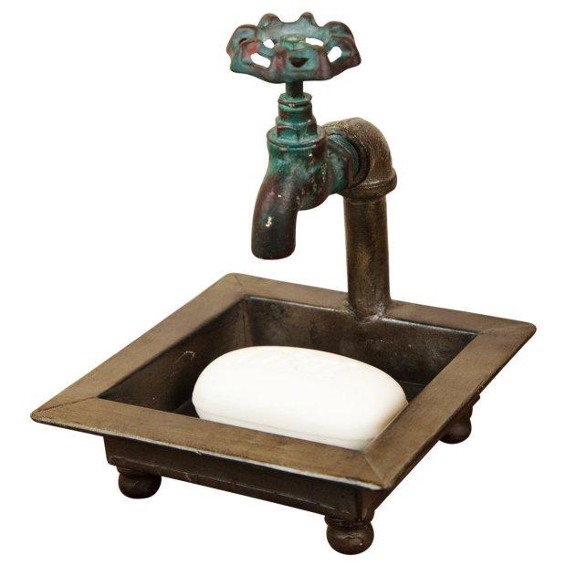 Antique Farmhouse Style Faucet Shaped Soap Dish