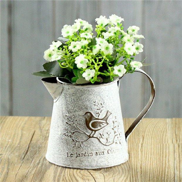 Mini Metal Pitcher Flower Vase
