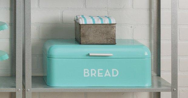 Now Designs Bread Bin, Turquoise Blue