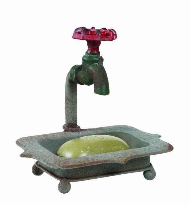 Secret Garden Decorative Iron Soap Holder with Faucet