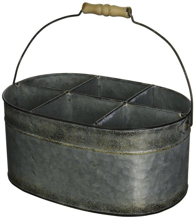 Tin Utensil Silverware Caddy