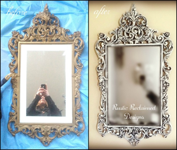 before and after - mirror makeover