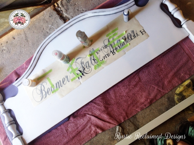Headboard Sign for Beamer Falls Manor