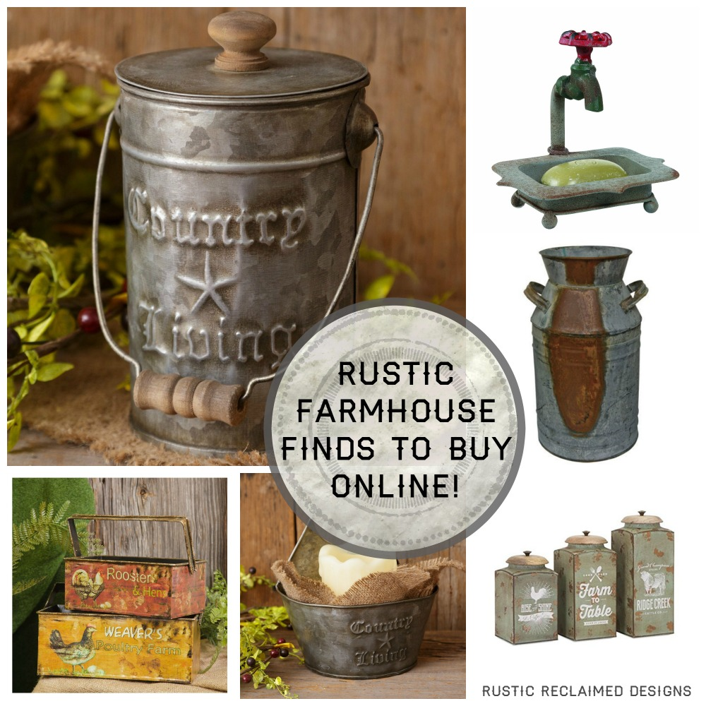 Rustic Farmhouse Finds To Buy Online Rustic Reclaimed Designs A Blog By Briar Rose