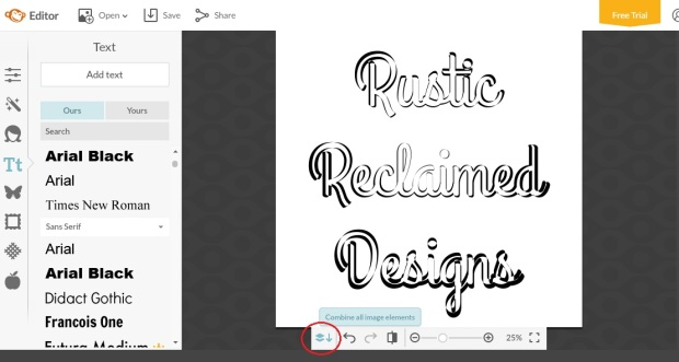 How to create outlines of letters using Picmonkey