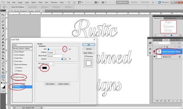 How to create outlines of letters using PSCS5