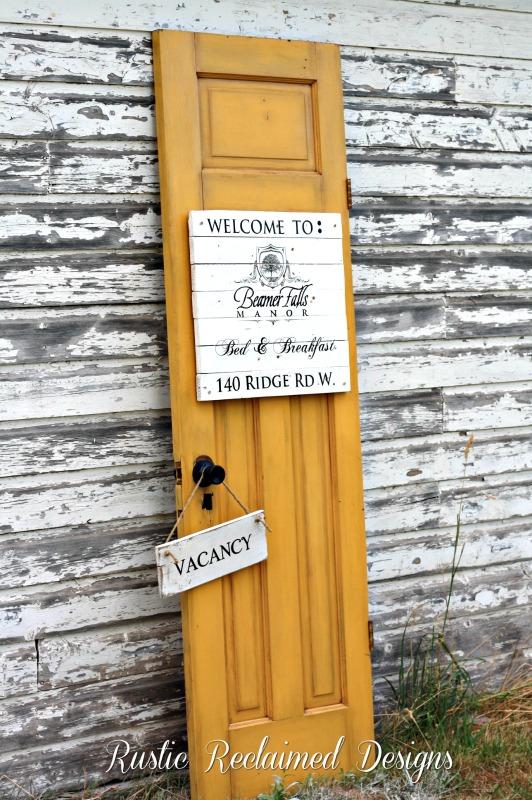 Yellow Door | Beamer Falls Manor | Rustic Reclaimed Designs