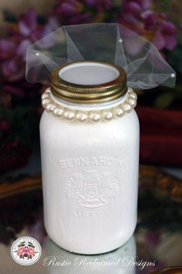 Bride Mason Jar