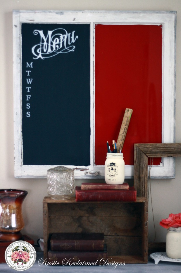 DIY Chalkboard / Dry Erase Board from an Old Window