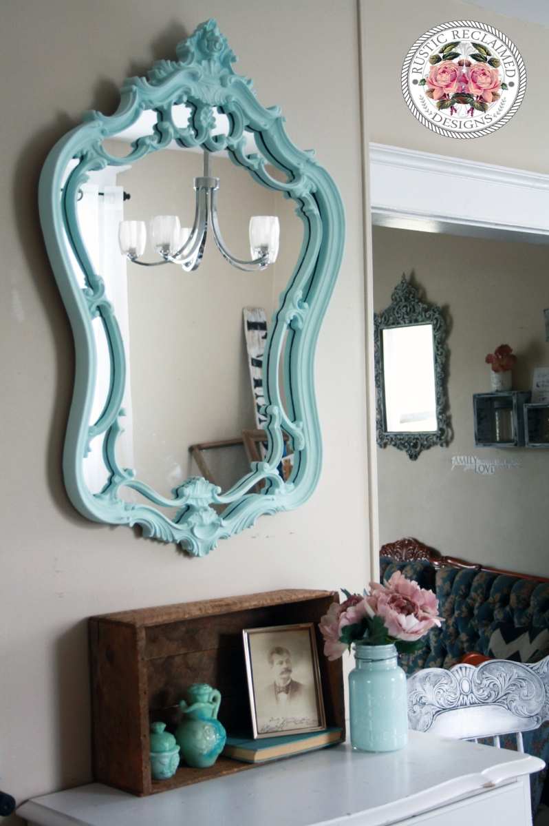 Mirror Makeover. | Icicle Blue