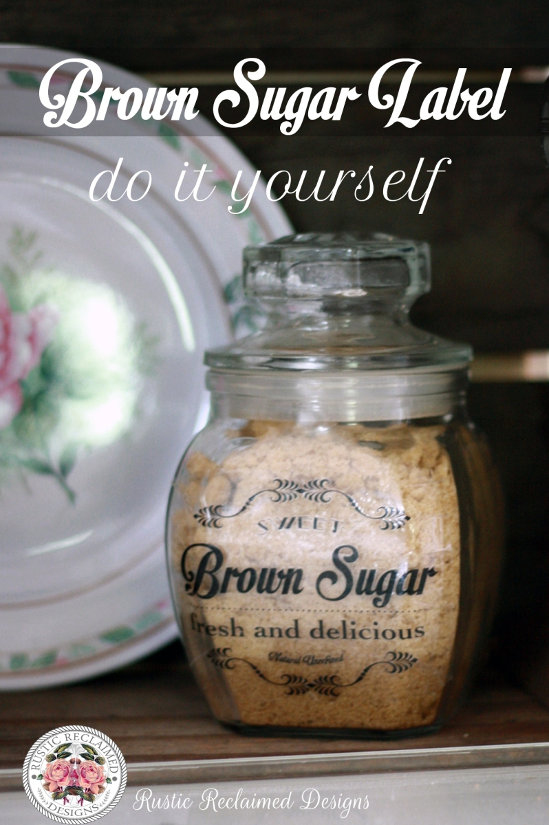 Brown Sugar Jar Label - DIY (Quick & Easy)