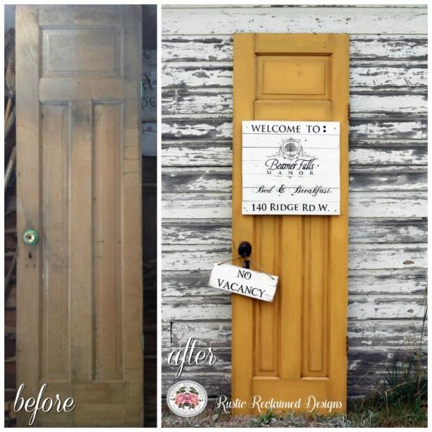 Yellow Door - before & after