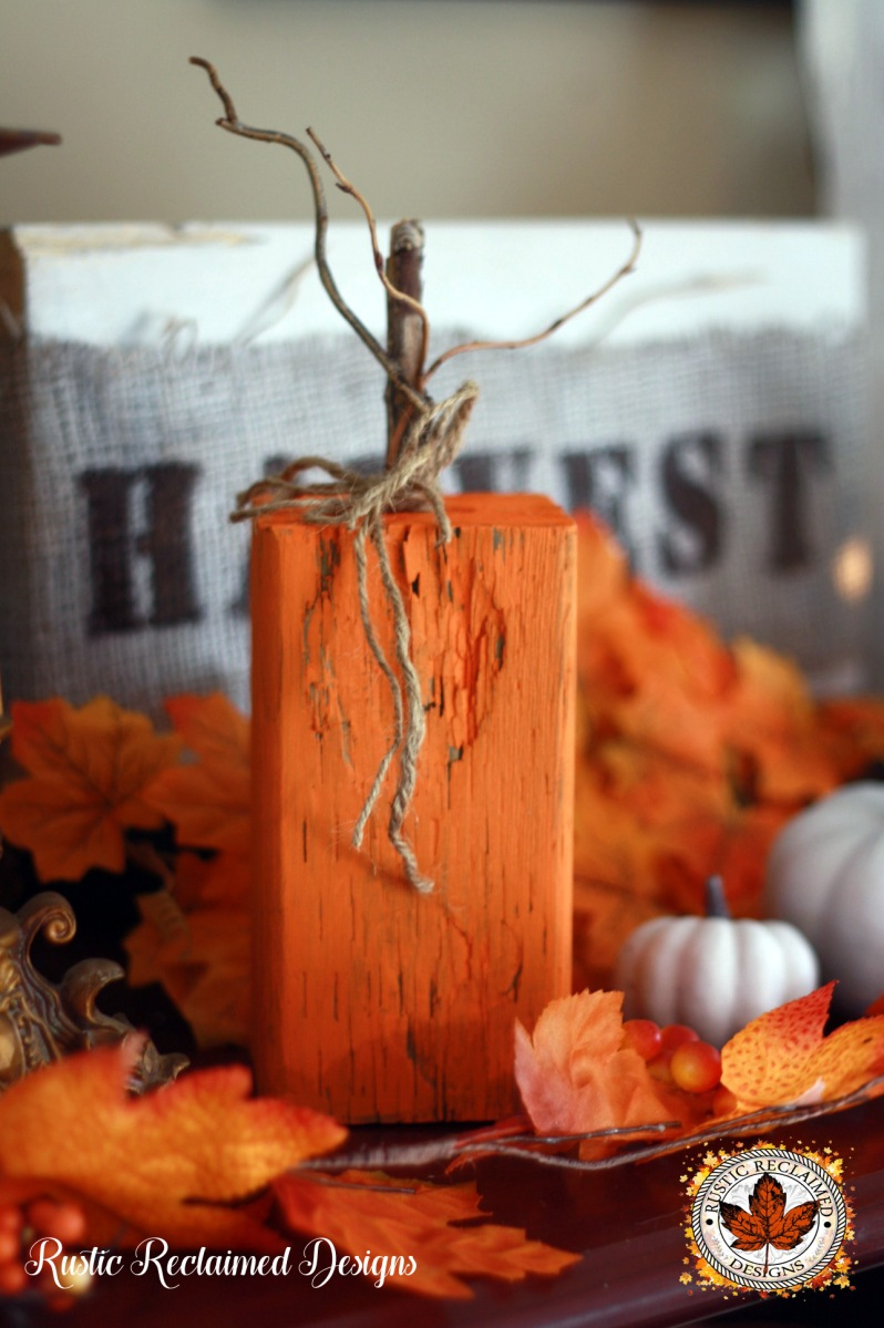 Wood Log Pumpkins - DIY