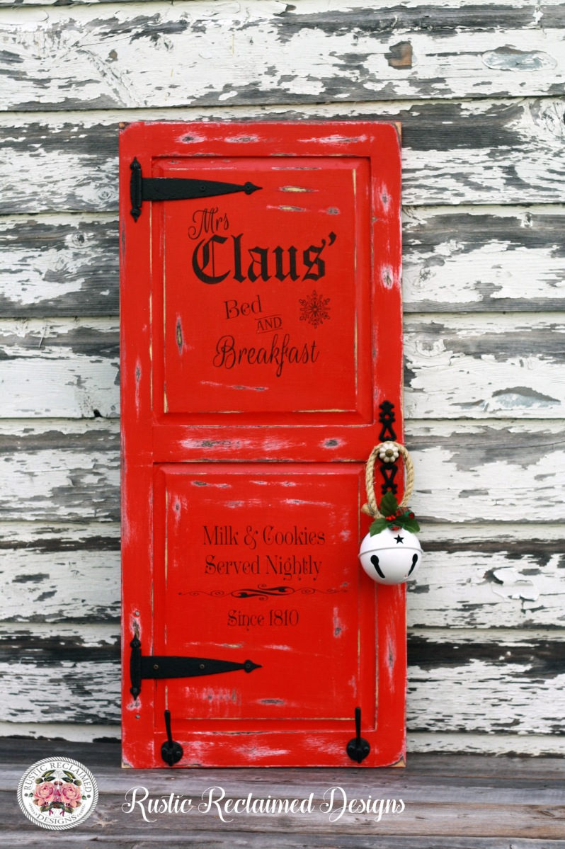 Mrs. Claus' Bed & Breakfast - Cabinet Door Sign