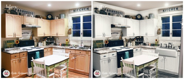 before & after virtual kitchen makeover