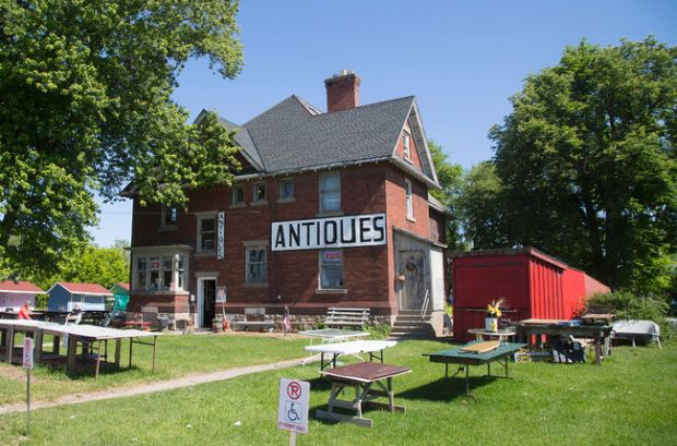 A view of the old farm house at Prudhommes Antique and Flea Market in Vineland. Photo taken on Thursday, June 9, 2016. Julie Jocsak/ St. Catharines Standard/ Postmedia Network CREDIT
