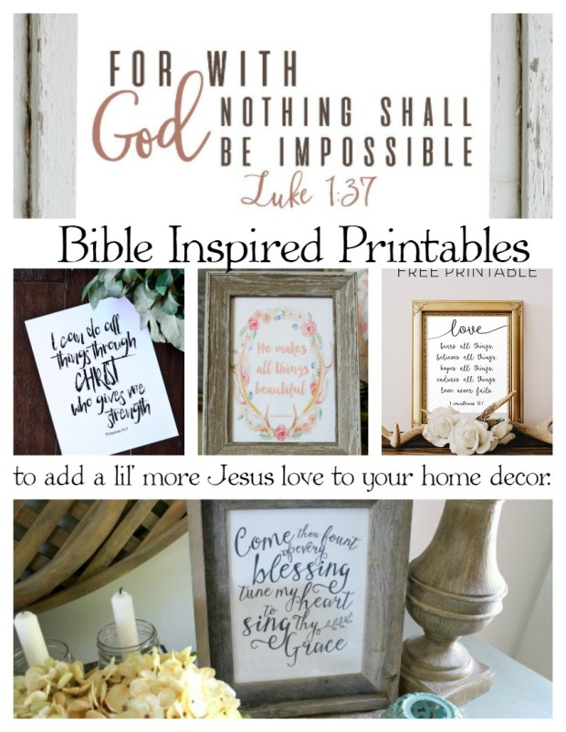 Bible Inspired Printables to add a lil' more Jesus love to your home decor.