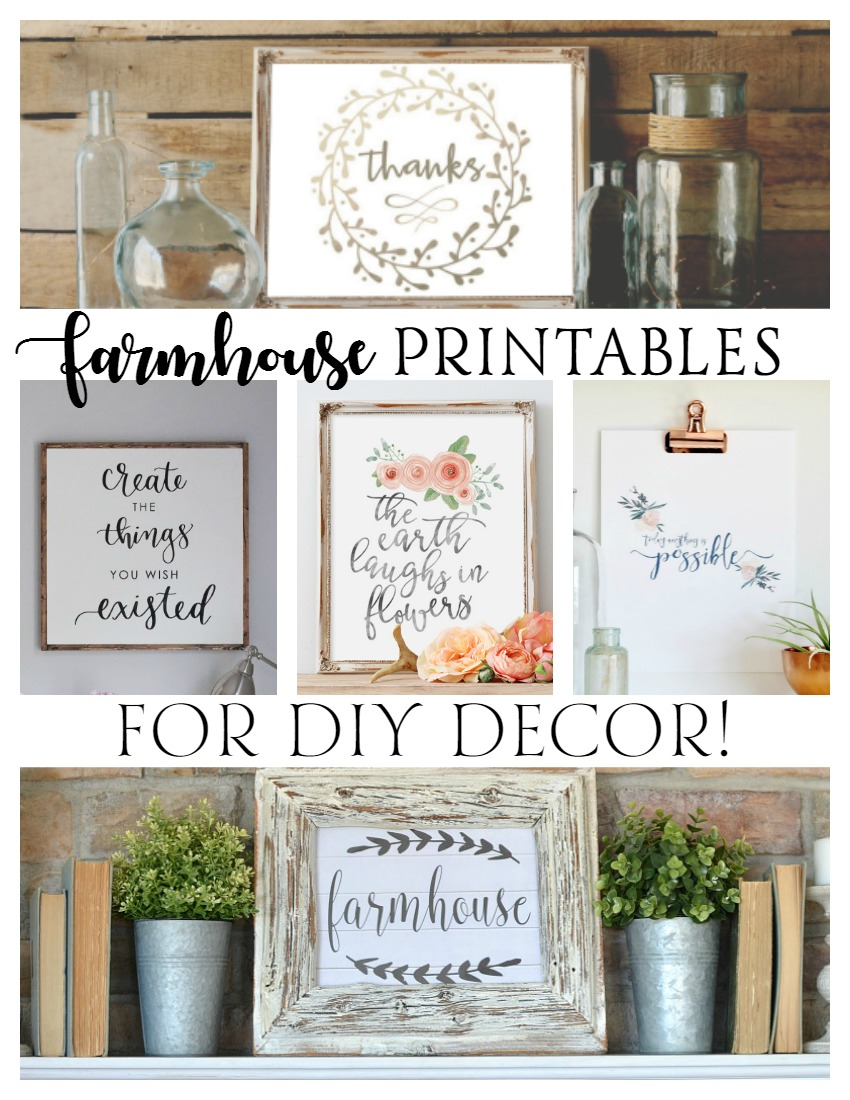 Free Farmhouse Printables For Diy Decor Rustic