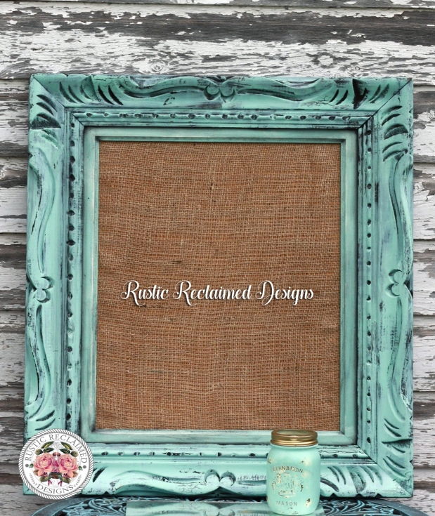 Custom Cork Board - Rustic Crackle Frame