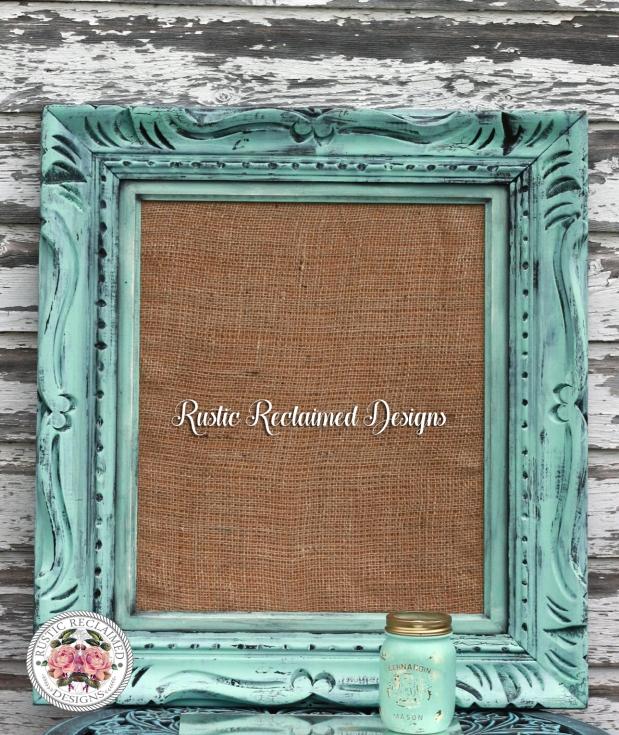 Custom Cork Board - Rustic Crackle Frame
