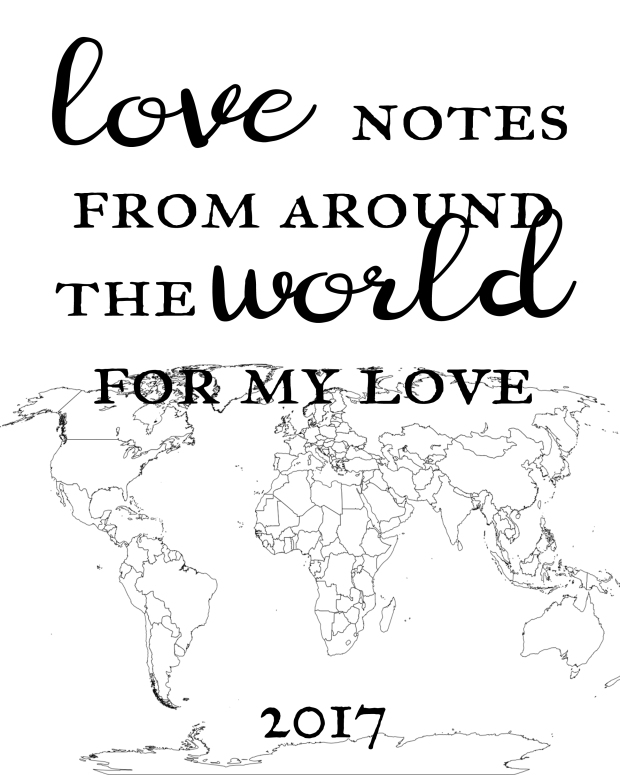 Love notes for my love printable - title page