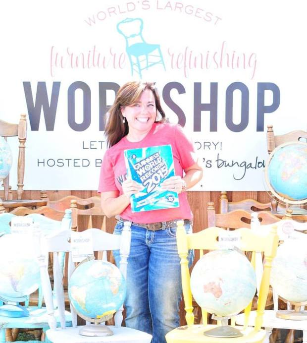 Brookielynn's Bungalow broke the Guinness World Record for the Largest Furniture Refinishing Workshop on Earth on Oct 1st of 2016.