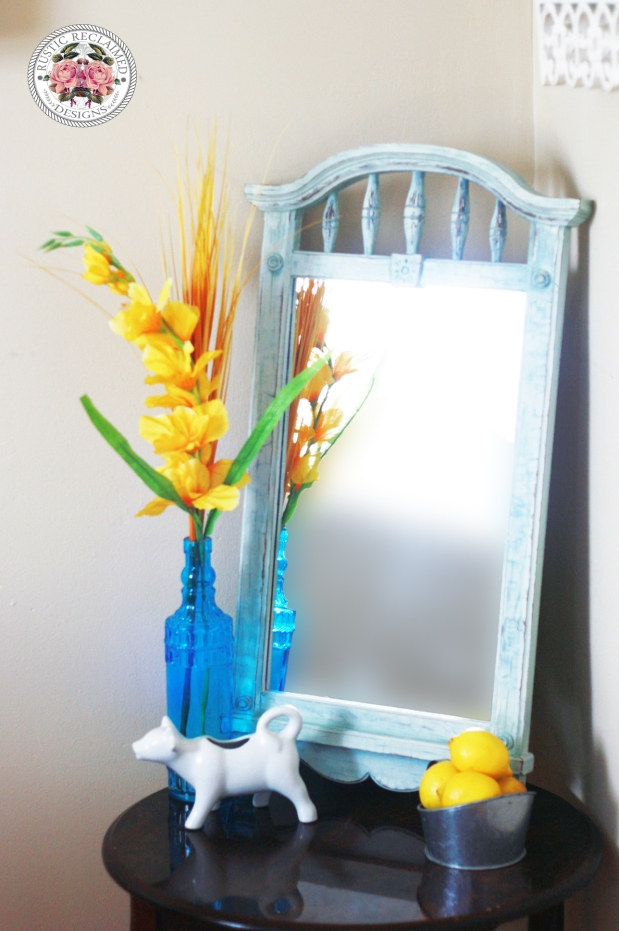 Mirror Makeover & Distressing the Easy Way
