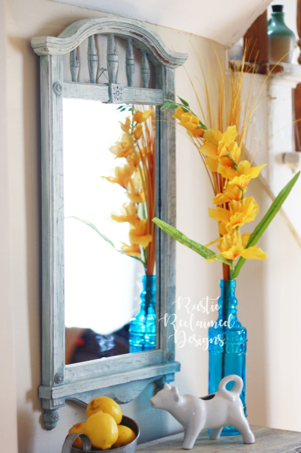 Country Chic Paint Mirror Makeover