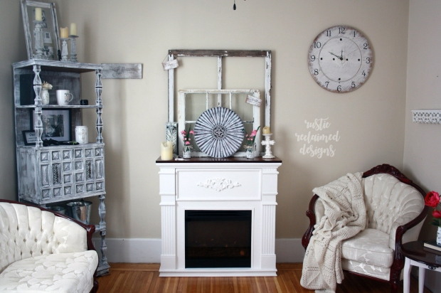 Farmhouse-Chic Fireplace Makeover