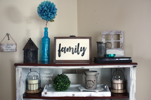Farmhouse TV Stand Makeover