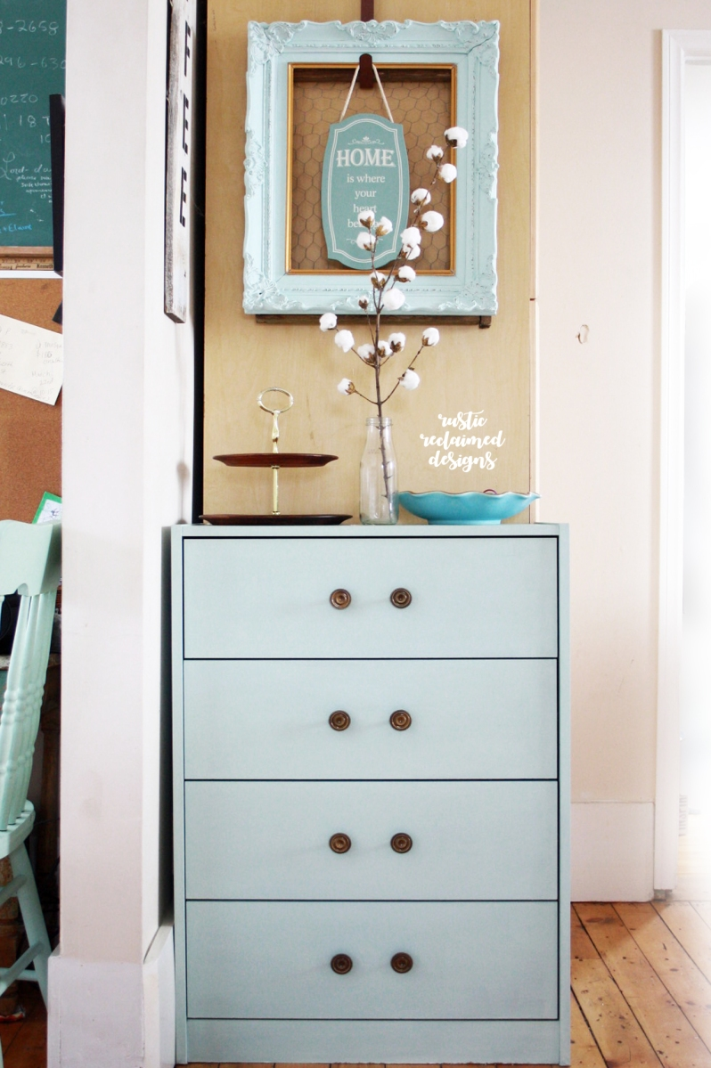 Cheap Pressboard Dresser Makeover