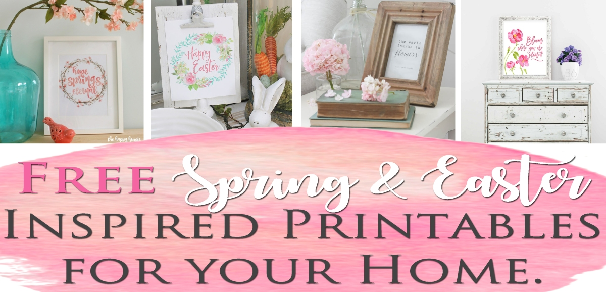 Free Spring & Easter Inspired Printables for your Home.